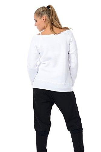 Pullover schulterfrei mit u-boot-ausschnitt mit kleiner Elfe der Marke 3Elfen Weiß Pink