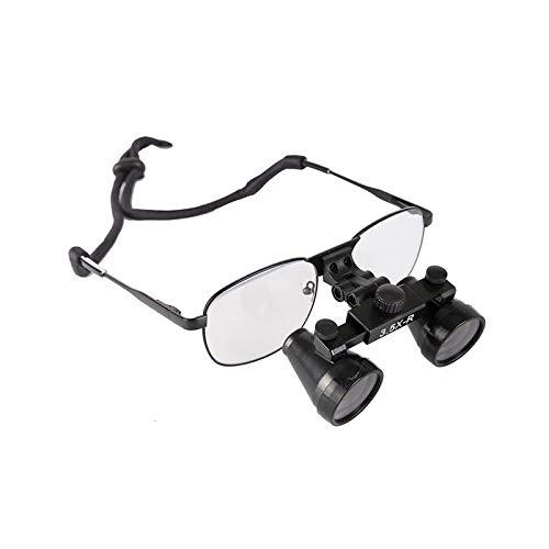 Magnifier Occhiali Binoculari Chirurgici Odontoiatrici 3.5x420mm con Montatura in Metallo Vetro Ottico Fauay