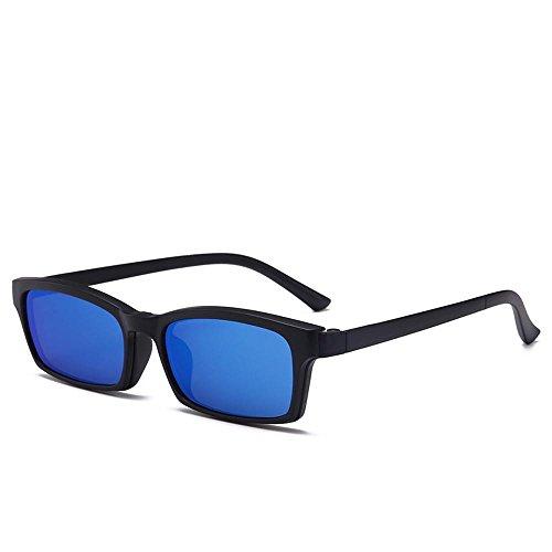 Luziang Quadratischer Typ Spektakel flachen magnetischen-Saug Myopie Set Spiegel Polarisierende Sonnenbrillen Nachtsicht Glas Fahren SES,Fahren, Reisen, Outdoor-Sport