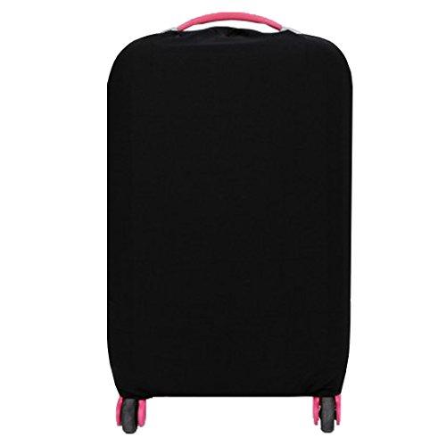 ANDUX Zone bagagli copertina di protezione Stretch Spandex di viaggio impostato XLFCZ-01 (Nero) (20 pollici)