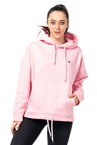 Damen Sweater Streetwear Pullover Pulli Sweat-Shirt Hoodie Kapuzenpulli Soft kuschelig 514 (Türkis, ()