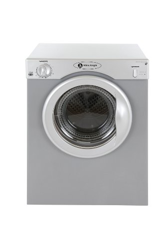 White Knight 38AS Compact Tumble Dryer, 3 Kg, Silver