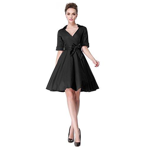 Heroecol-50s-60s-Hepburn-Short-Sleeves-Style-Vintage-Retro-Swing-Rockailly-Dresses