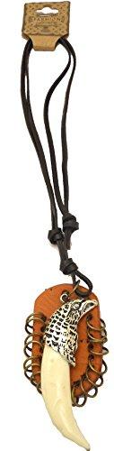 Unisex Uomo Donna collana di cuoio del metallo dell'aquila Bone Dagger cavo pendente