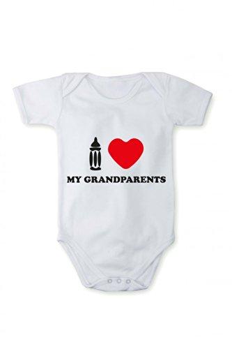 Romper baby bodysuit I love my grandparents In different languages
