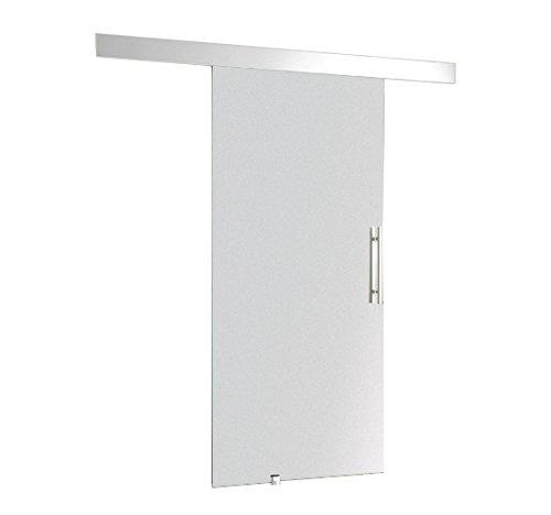 Homcom Glasschiebetür Schiebetür 2050 x 900 x 8 mm Tür Glastür Zimmertür mit Griffstange, 1 Stück, E7-0001 -
