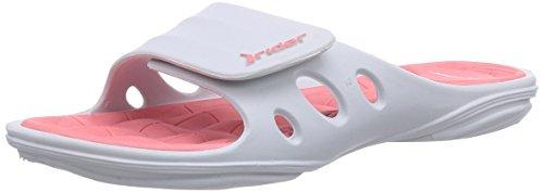 Rider - Key Vii, Sabot Donna Bianco (Weiß (White/Pink 23464))