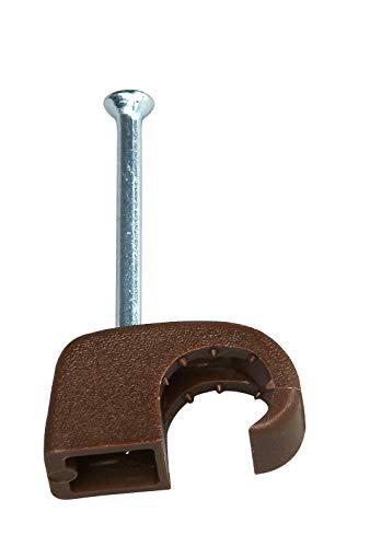 Kopp 342706082 Iso-Schellen 7-10 mm, mit gestifteten Stahlnadeln 30 mm, 50 Stück, braun