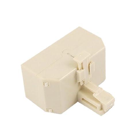 sourcingmap® 2 Pièces Mâle vers 3 Femelle RJ11 Prise 3 Voies Adaptateur Diviseur pour téléphone