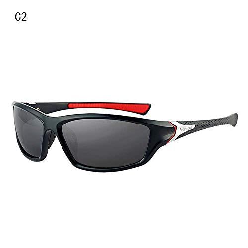 MJDL Luxus polarisierte Sonnenbrille Herren Driving Shades männliche Sonnenbrille Vintage Driving klassische Sonnenbrille Herren Goggle C2
