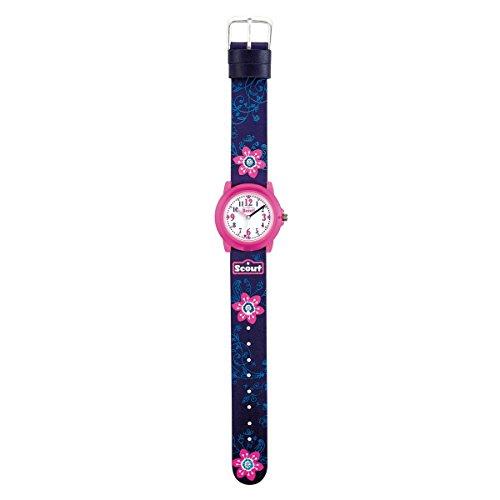 SCOUT Mädchen Analog Quarz Uhr mit PU Armband 280305028