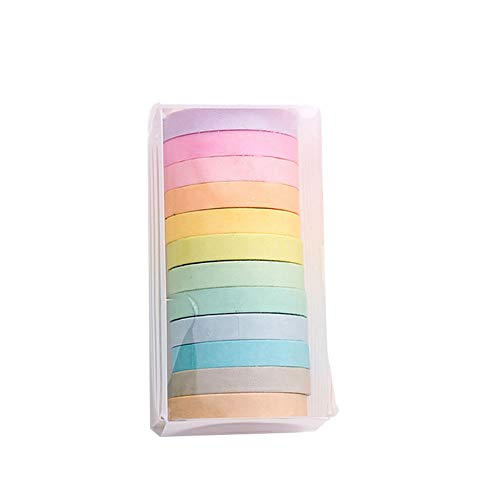 Vikenner Washi Cinta Adhesiva Colores Decorativa 12