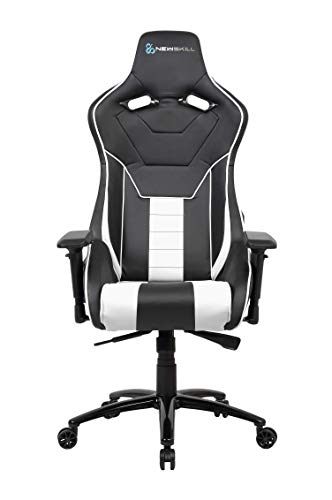 Newskill Kuraokami - Silla Gaming Profesional (Inclinación y Altura Regulable, reposabrazos Ajustable, reclinable 180º), Color Blanca