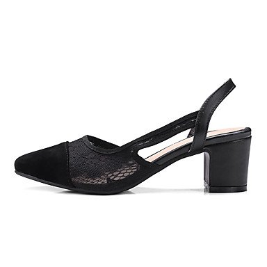 LvYuan Sandalen-Kleid-Kunstleder-Blockabsatz-Andere-Schwarz Weiß White