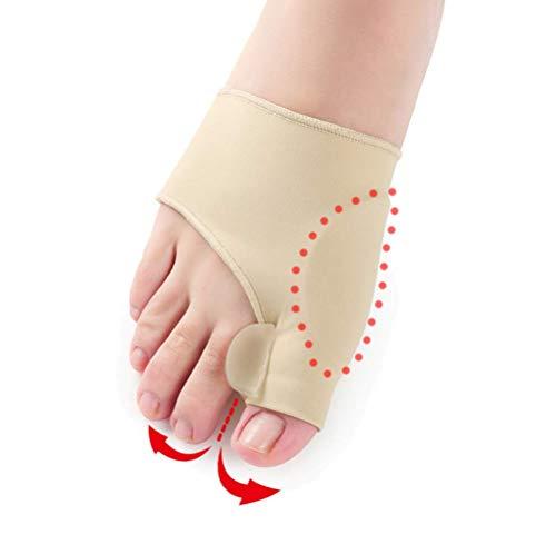 Gewerkschaft-Schutzschläfer-Schläfer-1pair (Left/Right Fuß) Gel Bunion Corrector Big Toe Straightener mit Silicone Gel Pad für Hallux Valgus Schmerzmittel,L