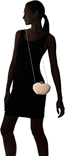 Damara Besondere Glamour Perle Strassstein Damen Hartschalen Clutch Handtasche,Champagne Champagne