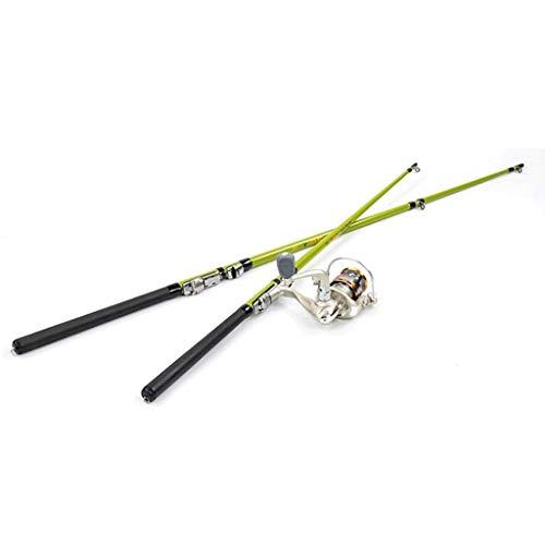Rutenrollenkombinationen, Stange mit Spinnrollensatz für zusammenklappbare Teleskop-Erwachsene Kids Outdoor Sport Travel Süßwasser Salzwasser (Farbe: 1,5 m, Größe: Rute) -
