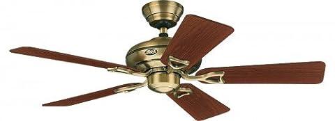 CASA BRUNO ceiling fan Seville, antique brass