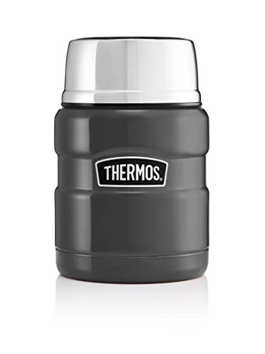 Picture of Thermos Stainless King Food Flask, Gun Metal, 470 ml