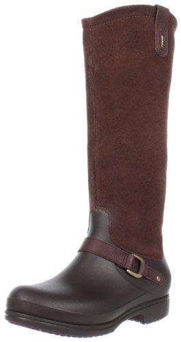 Crocs Equestrian Suede Tall Boot, Bottes femme Marron (Espresso/Espresso)