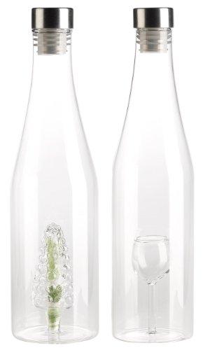 Cucina di Modena Flasche mit Hohlraum: Geschenkflaschen-Set, 2-teilig (Flasche für Geldgeschenke) (Beispiel Schnaps Flaschen)