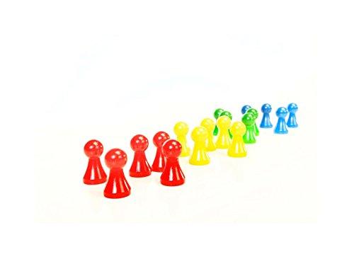 House Of Kids 30257Spielsteine aus Holz für Kid Cala -16pc + 2Würfel/Kid Cala Playing PCS–16pc + 2Dies Polyester Mehrfarbig 20x 0,5x 15cm