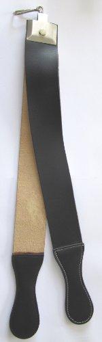 Preisvergleich Produktbild Pathfinder Technologies Streichriemen,  aus Leder und Segeltuch,  für Rasiermesser,  mit Haken zum Aufhängen,  30 x 5 cm