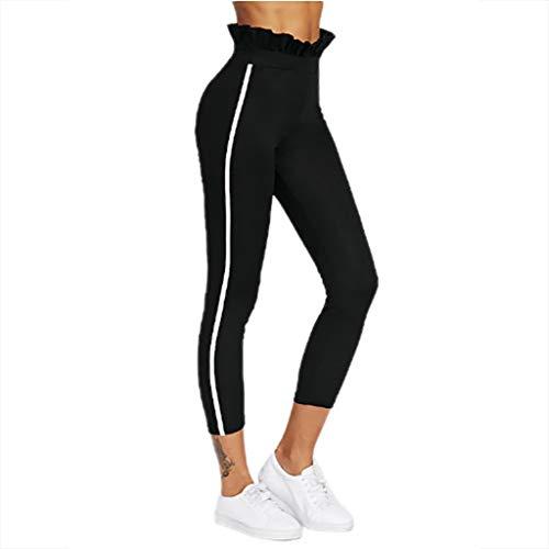 Beudylihy Laufhose Damen mit Tasche lang - Leggins Stretch-Hose Lauf-Tights für Smartphone iPhone Handy Schlüssel Yoga Boot Flare-leggings