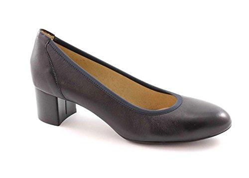 MELLUSO D100 notte scarpe donna decolletè elasticizzato tacco pelle cuoio 37.5
