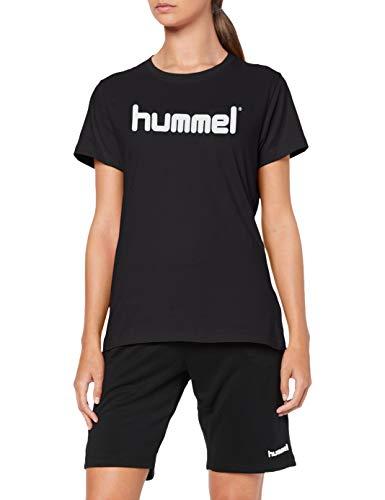 Hummel Damen HMLGO COTTON LOGO T-shirts, Schwarz, L