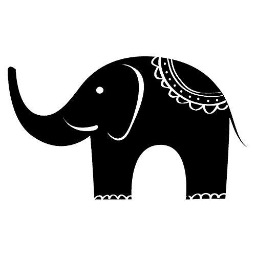 LXLZN Auto Aufkleber Vinyl Aufkleber Tier Halloween Sport Selbstklebend Weihnachten Zubehör 2 Stücke Sport Indian Elephant Car Stickers Vinyl Decal 16.5 * 9.9 cm