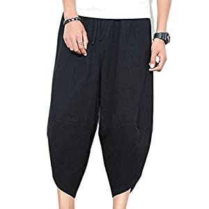 ROBO Herren Hose Cargo Jogging Pants Oversize Chino Lose Männer Harem Hosen