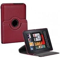 Targus THZ18001EU - Funda con base giratorio de 360 grados para Kindle Fire, color rojo