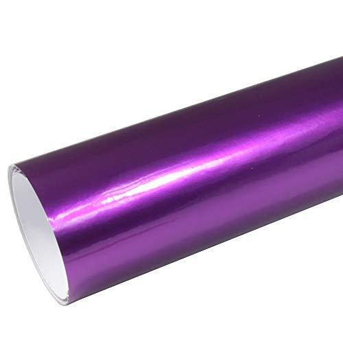 Rapid Teck® AutoFolie Serie z560 Candy Purple Explosion Hochglanz 1m x 1,52m Lila selbstklebende Premium Car Wrapping Glanz Folie mit Luftkanal