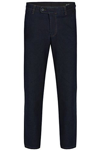 aubi: Perfect Fit Thermo Herren Jeans Flat Front Kurzleib dark stone (48)