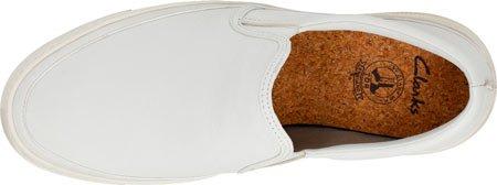 Clarks Ballof Schritt Slip On White Leather