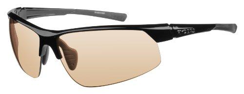 Ryders Saber Photo wbgl Wrap Sonnenbrille, Uni, schwarz