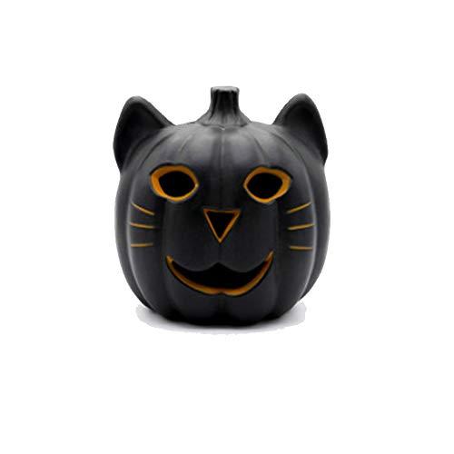 QEQ Halloween Schwarze Katze Kürbis Licht Horror Dekoration Requisiten Lustige Hohle Glühende Kürbis Kreative Szene Anordnung Dekoration