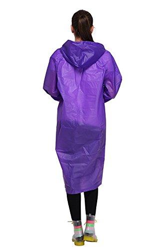 Regenponcho von Outry, Regenjacke Regenmantel, Poncho, Regencape, Rad-Regenponcho, regenponcho fahrrad, regenkleidung für das Fahrrad Lila