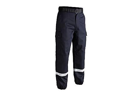 Pantalon F2 bandes rétro-réfléchissantes bleu - T.O.E. Concept® -