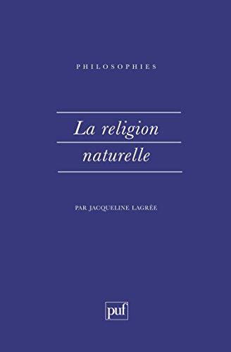 La Religion naturelle