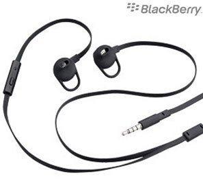 Offizielles Blackberry HDW - 49299-001 Stere Premium IN Ear Headset/Freisprechanlage/Kopfhörer für Blackberry Curve 9360, Curve 9380, Perle 3 g, Storm, STORM2, Torch 9800, Torch 9810, 9860, Torch, Schwarz