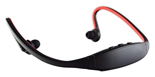 Pama Plug n Go 265Bluetooth Sport cuffie con microfono e telecomando, colore: rosso/nero