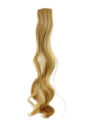 WIG ME UP - Breite Extension mit 2 Clips Strähne Haarverlängerung Haarteil Highlight wellig 63cm / 25inch Blond YZF-P2C25-86 -