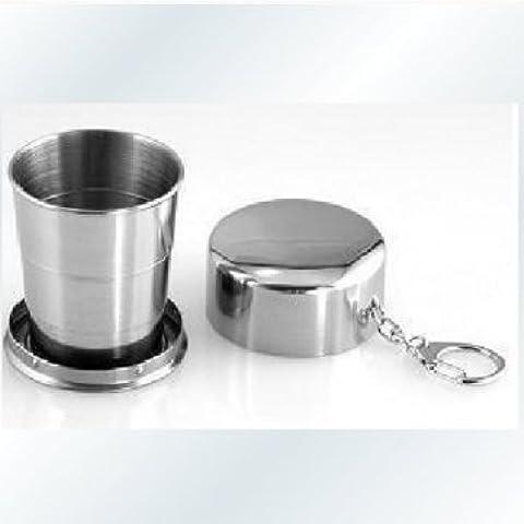 Man Friday Alta calidad plegable flexible Gran Desfile de acero inoxidable taza de agua portátil