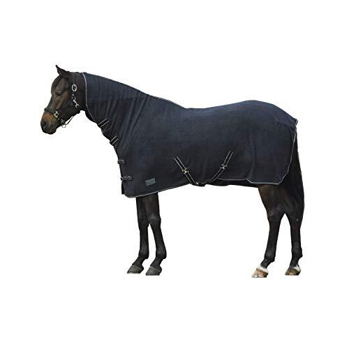 Fleece Abschwitzdecke mit Halsteil blau, Groesse:125 - 2