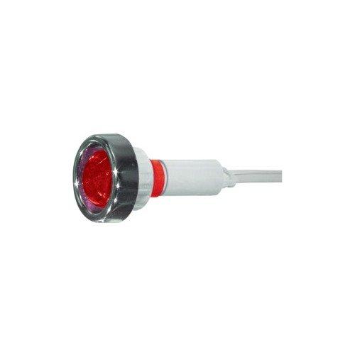 Bissanzeiger rote KontrollLeuchte 220V Neon-eingebaut mit Zwinge (Neon-kontrollleuchte)