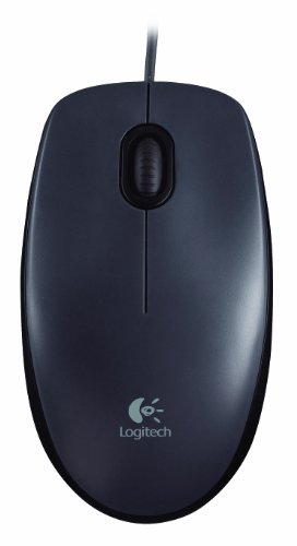 Logitech M90 Wired USB Mouse  Black  Mice