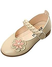 Topgrowth Sandali Bambina Fiocco Perla Cristallo Sandali Romani Scarpe da Principessa Sandali Scarpine Neonato Prima (28, Nero)