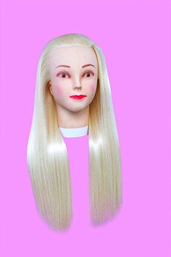 topbeauty Blond Cheveux Synthétiques Pratique de coiffure de formation Tête Poupée Mannequin avec pince